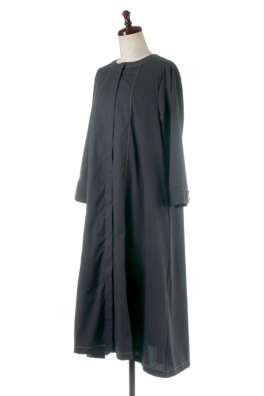 FlarePanelLongShirtsDressコットンストレッチ・シャツワンピース大人カジュアルに最適な海外ファッションのothers(その他インポートアイテム)のワンピースやミディワンピース。ゆったり目なのに細見え効果抜群の長袖シャツワンピース。タイトではない程よいシェイプ感があり、女性らしいシルエットが美しいワンピースです。/main-1