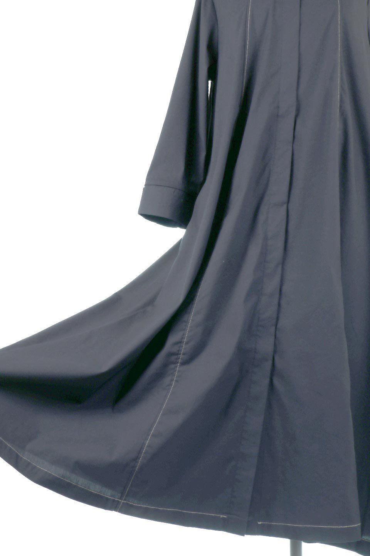FlarePanelLongShirtsDressコットンストレッチ・シャツワンピース大人カジュアルに最適な海外ファッションのothers(その他インポートアイテム)のワンピースやミディワンピース。ゆったり目なのに細見え効果抜群の長袖シャツワンピース。タイトではない程よいシェイプ感があり、女性らしいシルエットが美しいワンピースです。/main-10