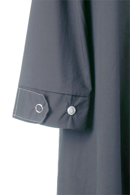 FlarePanelLongShirtsDressコットンストレッチ・シャツワンピース大人カジュアルに最適な海外ファッションのothers(その他インポートアイテム)のワンピースやミディワンピース。ゆったり目なのに細見え効果抜群の長袖シャツワンピース。タイトではない程よいシェイプ感があり、女性らしいシルエットが美しいワンピースです。/main-11
