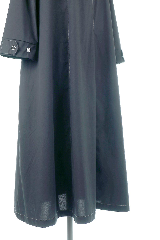 FlarePanelLongShirtsDressコットンストレッチ・シャツワンピース大人カジュアルに最適な海外ファッションのothers(その他インポートアイテム)のワンピースやミディワンピース。ゆったり目なのに細見え効果抜群の長袖シャツワンピース。タイトではない程よいシェイプ感があり、女性らしいシルエットが美しいワンピースです。/main-13