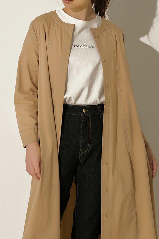 FlarePanelLongShirtsDressコットンストレッチ・シャツワンピース大人カジュアルに最適な海外ファッションのothers(その他インポートアイテム)のワンピースやミディワンピース。ゆったり目なのに細見え効果抜群の長袖シャツワンピース。タイトではない程よいシェイプ感があり、女性らしいシルエットが美しいワンピースです。/main-19