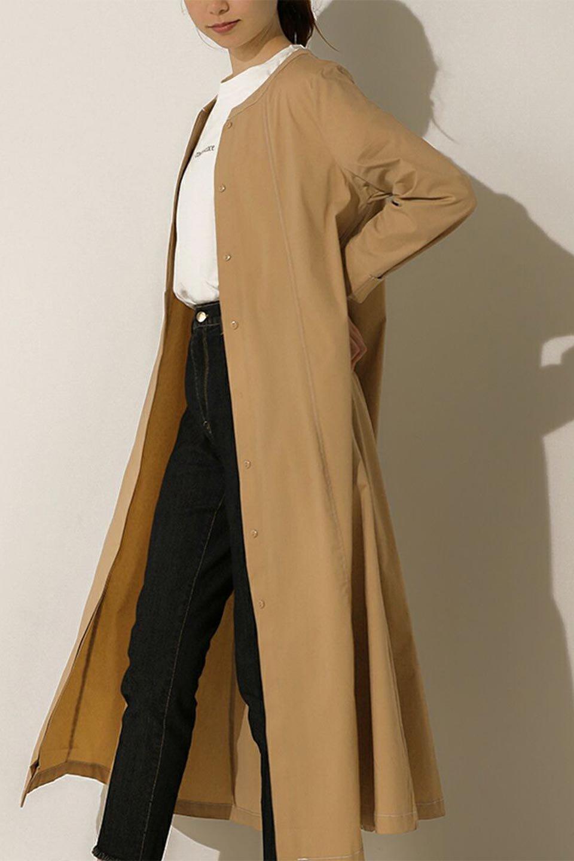FlarePanelLongShirtsDressコットンストレッチ・シャツワンピース大人カジュアルに最適な海外ファッションのothers(その他インポートアイテム)のワンピースやミディワンピース。ゆったり目なのに細見え効果抜群の長袖シャツワンピース。タイトではない程よいシェイプ感があり、女性らしいシルエットが美しいワンピースです。/main-20