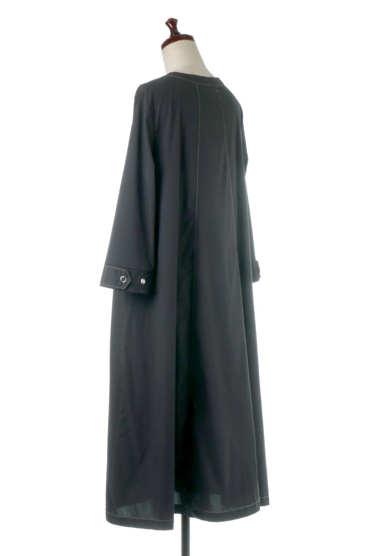 FlarePanelLongShirtsDressコットンストレッチ・シャツワンピース大人カジュアルに最適な海外ファッションのothers(その他インポートアイテム)のワンピースやミディワンピース。ゆったり目なのに細見え効果抜群の長袖シャツワンピース。タイトではない程よいシェイプ感があり、女性らしいシルエットが美しいワンピースです。/main-3