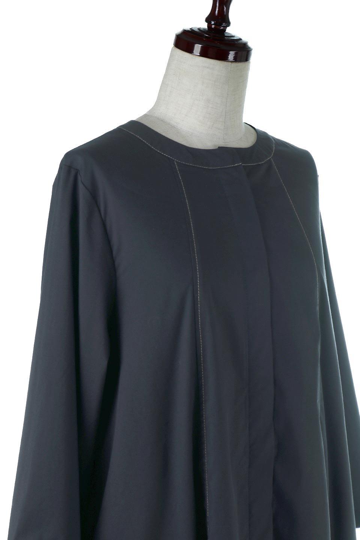 FlarePanelLongShirtsDressコットンストレッチ・シャツワンピース大人カジュアルに最適な海外ファッションのothers(その他インポートアイテム)のワンピースやミディワンピース。ゆったり目なのに細見え効果抜群の長袖シャツワンピース。タイトではない程よいシェイプ感があり、女性らしいシルエットが美しいワンピースです。/main-5