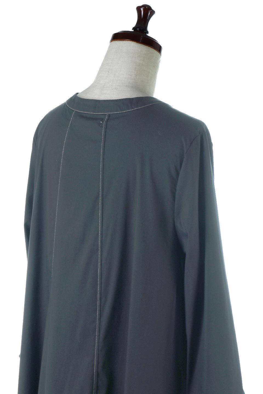 FlarePanelLongShirtsDressコットンストレッチ・シャツワンピース大人カジュアルに最適な海外ファッションのothers(その他インポートアイテム)のワンピースやミディワンピース。ゆったり目なのに細見え効果抜群の長袖シャツワンピース。タイトではない程よいシェイプ感があり、女性らしいシルエットが美しいワンピースです。/main-6