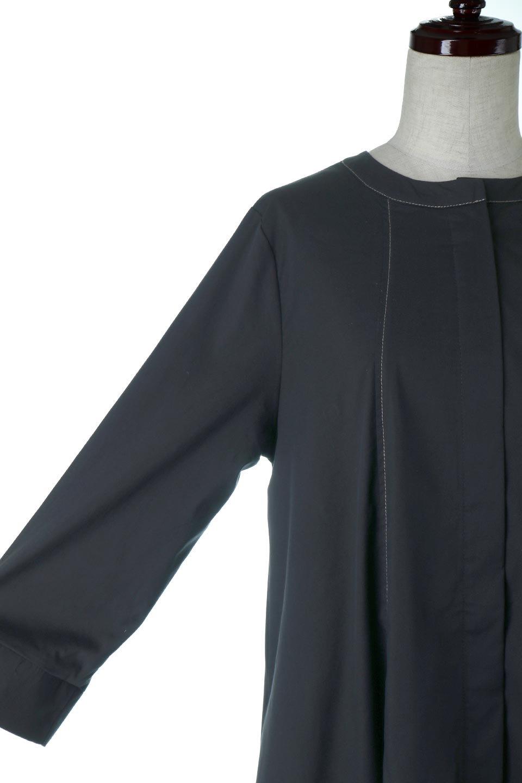 FlarePanelLongShirtsDressコットンストレッチ・シャツワンピース大人カジュアルに最適な海外ファッションのothers(その他インポートアイテム)のワンピースやミディワンピース。ゆったり目なのに細見え効果抜群の長袖シャツワンピース。タイトではない程よいシェイプ感があり、女性らしいシルエットが美しいワンピースです。/main-7