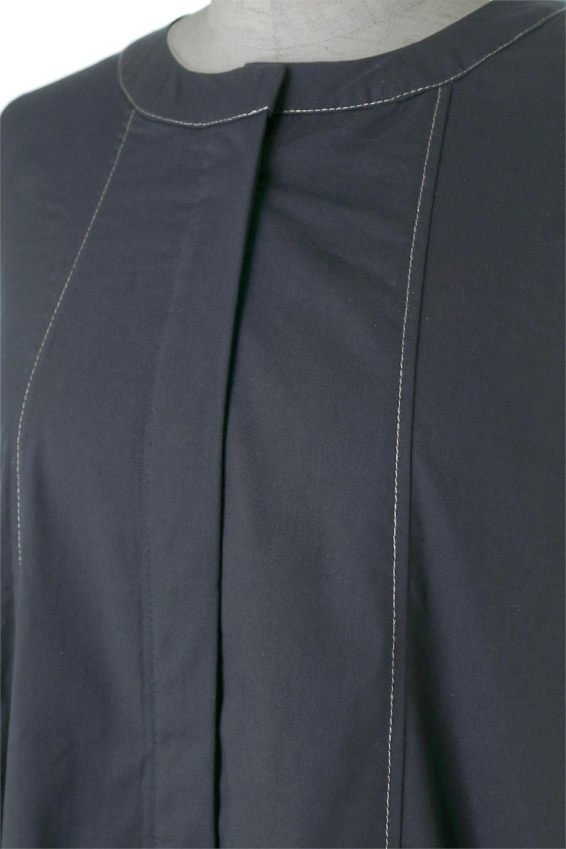 FlarePanelLongShirtsDressコットンストレッチ・シャツワンピース大人カジュアルに最適な海外ファッションのothers(その他インポートアイテム)のワンピースやミディワンピース。ゆったり目なのに細見え効果抜群の長袖シャツワンピース。タイトではない程よいシェイプ感があり、女性らしいシルエットが美しいワンピースです。/main-8