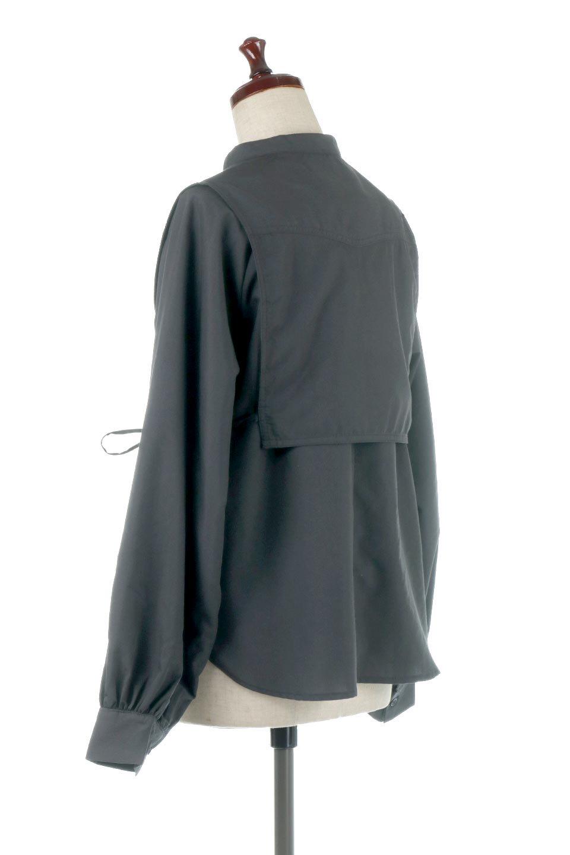 Tie-UpSideBustierBlouseビスチェ付き・パフスリーブブラウス大人カジュアルに最適な海外ファッションのothers(その他インポートアイテム)のトップスやシャツ・ブラウス。サイドが絞れるビスチェがセットになったポリコットンのブラウス。ブラウスは前後どちらでも楽しめる2Way仕様になっています。/main-15