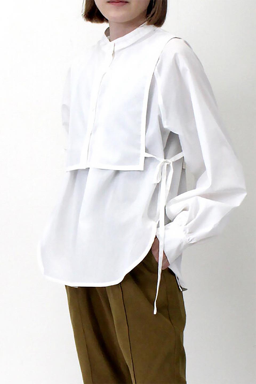 Tie-UpSideBustierBlouseビスチェ付き・パフスリーブブラウス大人カジュアルに最適な海外ファッションのothers(その他インポートアイテム)のトップスやシャツ・ブラウス。サイドが絞れるビスチェがセットになったポリコットンのブラウス。ブラウスは前後どちらでも楽しめる2Way仕様になっています。/main-28