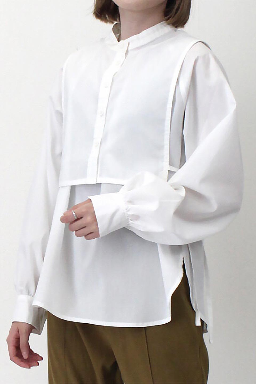 Tie-UpSideBustierBlouseビスチェ付き・パフスリーブブラウス大人カジュアルに最適な海外ファッションのothers(その他インポートアイテム)のトップスやシャツ・ブラウス。サイドが絞れるビスチェがセットになったポリコットンのブラウス。ブラウスは前後どちらでも楽しめる2Way仕様になっています。/main-29