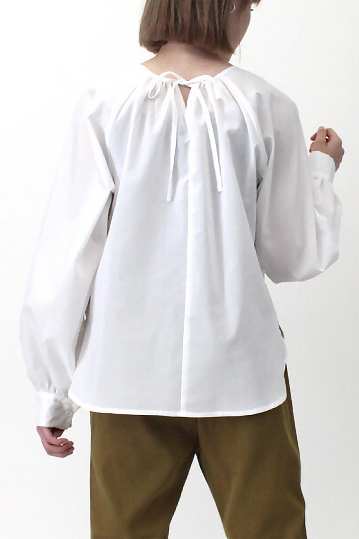 Tie-UpSideBustierBlouseビスチェ付き・パフスリーブブラウス大人カジュアルに最適な海外ファッションのothers(その他インポートアイテム)のトップスやシャツ・ブラウス。サイドが絞れるビスチェがセットになったポリコットンのブラウス。ブラウスは前後どちらでも楽しめる2Way仕様になっています。/main-30