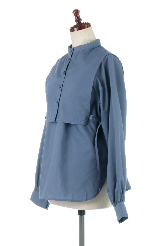 Tie-UpSideBustierBlouseビスチェ付き・パフスリーブブラウス大人カジュアルに最適な海外ファッションのothers(その他インポートアイテム)のトップスやシャツ・ブラウス。サイドが絞れるビスチェがセットになったポリコットンのブラウス。ブラウスは前後どちらでも楽しめる2Way仕様になっています。/main-7