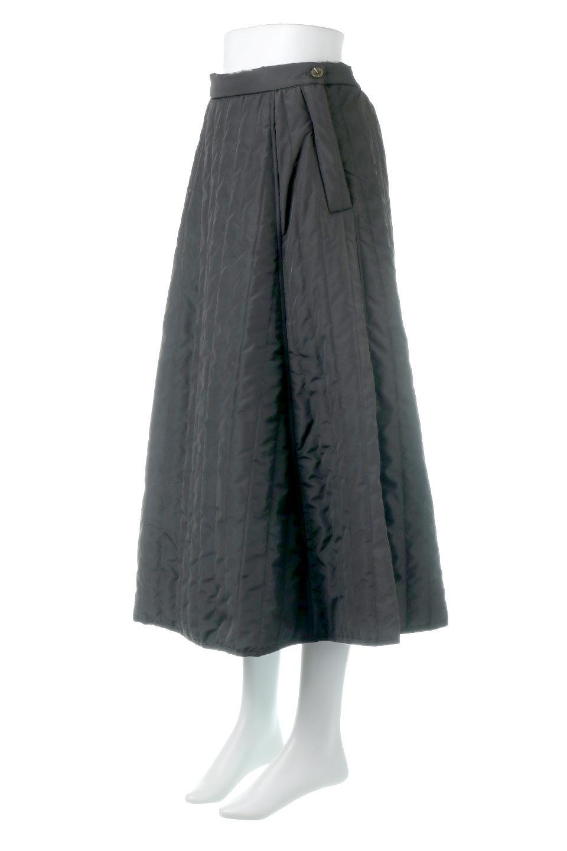 InsulatedQuiltedFlareSkirt中綿入り・キルティングスカート大人カジュアルに最適な海外ファッションのothers(その他インポートアイテム)のボトムやスカート。寒い時期に嬉しい中綿入のキルティング・フレアスカート。ソフトなポリエステル生地で軽い仕上がりです。/main-11