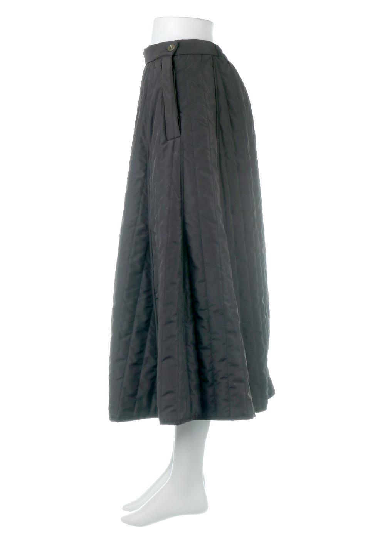 InsulatedQuiltedFlareSkirt中綿入り・キルティングスカート大人カジュアルに最適な海外ファッションのothers(その他インポートアイテム)のボトムやスカート。寒い時期に嬉しい中綿入のキルティング・フレアスカート。ソフトなポリエステル生地で軽い仕上がりです。/main-12