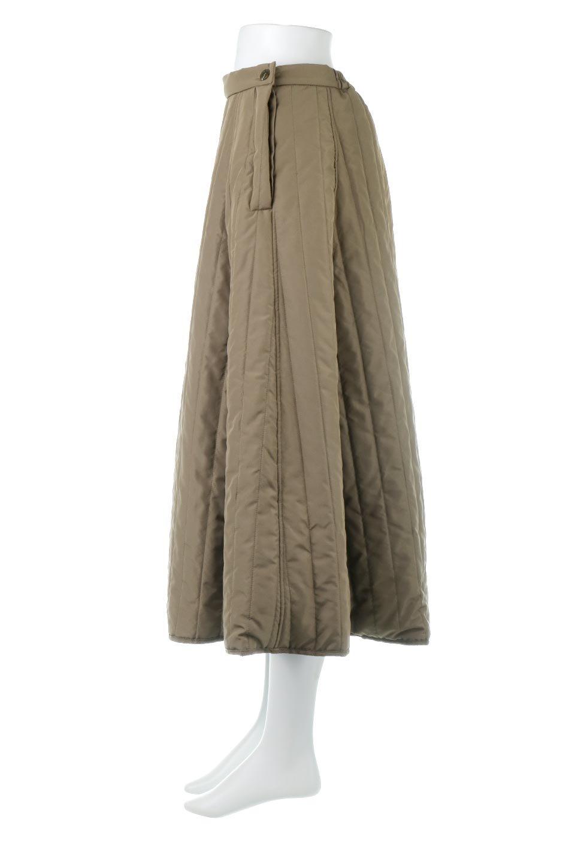 InsulatedQuiltedFlareSkirt中綿入り・キルティングスカート大人カジュアルに最適な海外ファッションのothers(その他インポートアイテム)のボトムやスカート。寒い時期に嬉しい中綿入のキルティング・フレアスカート。ソフトなポリエステル生地で軽い仕上がりです。/main-2