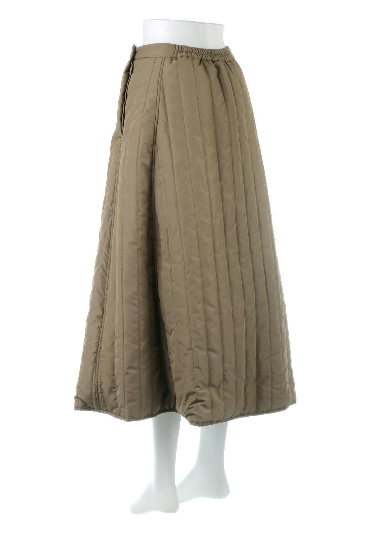 InsulatedQuiltedFlareSkirt中綿入り・キルティングスカート大人カジュアルに最適な海外ファッションのothers(その他インポートアイテム)のボトムやスカート。寒い時期に嬉しい中綿入のキルティング・フレアスカート。ソフトなポリエステル生地で軽い仕上がりです。/main-3