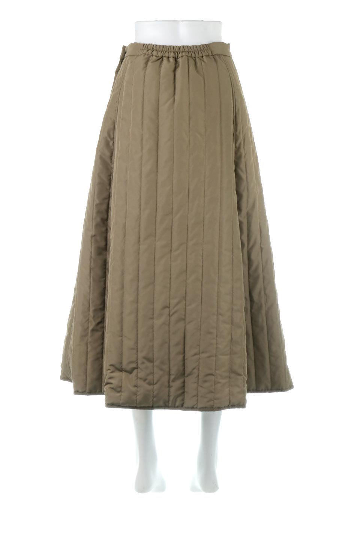 InsulatedQuiltedFlareSkirt中綿入り・キルティングスカート大人カジュアルに最適な海外ファッションのothers(その他インポートアイテム)のボトムやスカート。寒い時期に嬉しい中綿入のキルティング・フレアスカート。ソフトなポリエステル生地で軽い仕上がりです。/main-4