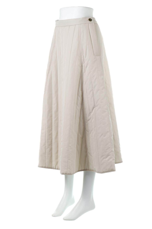 InsulatedQuiltedFlareSkirt中綿入り・キルティングスカート大人カジュアルに最適な海外ファッションのothers(その他インポートアイテム)のボトムやスカート。寒い時期に嬉しい中綿入のキルティング・フレアスカート。ソフトなポリエステル生地で軽い仕上がりです。/main-6