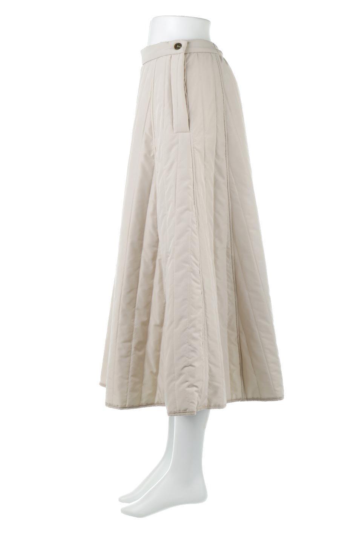 InsulatedQuiltedFlareSkirt中綿入り・キルティングスカート大人カジュアルに最適な海外ファッションのothers(その他インポートアイテム)のボトムやスカート。寒い時期に嬉しい中綿入のキルティング・フレアスカート。ソフトなポリエステル生地で軽い仕上がりです。/main-7