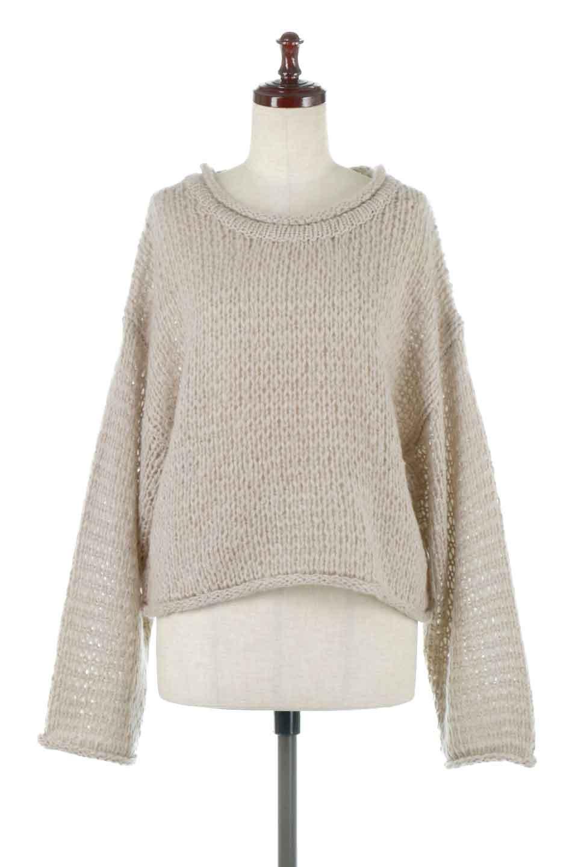 LowGaugeShortKnitTopローゲージ・ショートセーター大人カジュアルに最適な海外ファッションのothers(その他インポートアイテム)のトップスやニット・セーター。手編みのようなざっくりとしたローゲージのゆるさが可愛いニットプルオーバー。編地は透け感もあり、レイヤードスタイルにもぴったりです。