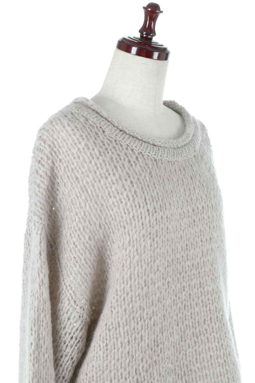 LowGaugeShortKnitTopローゲージ・ショートセーター大人カジュアルに最適な海外ファッションのothers(その他インポートアイテム)のトップスやニット・セーター。手編みのようなざっくりとしたローゲージのゆるさが可愛いニットプルオーバー。編地は透け感もあり、レイヤードスタイルにもぴったりです。/main-10