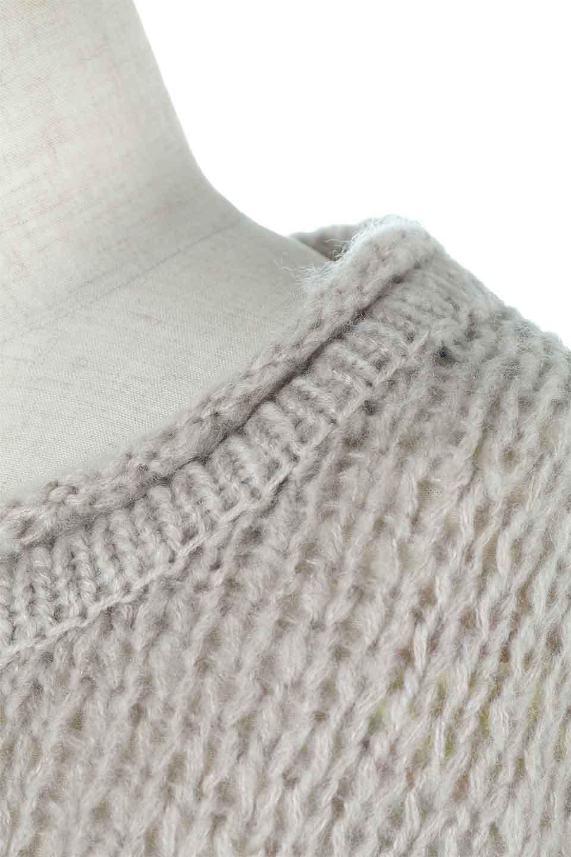 LowGaugeShortKnitTopローゲージ・ショートセーター大人カジュアルに最適な海外ファッションのothers(その他インポートアイテム)のトップスやニット・セーター。手編みのようなざっくりとしたローゲージのゆるさが可愛いニットプルオーバー。編地は透け感もあり、レイヤードスタイルにもぴったりです。/main-11