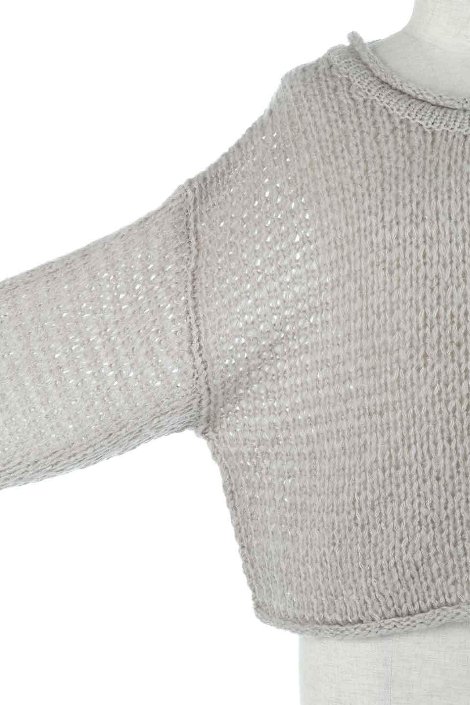 LowGaugeShortKnitTopローゲージ・ショートセーター大人カジュアルに最適な海外ファッションのothers(その他インポートアイテム)のトップスやニット・セーター。手編みのようなざっくりとしたローゲージのゆるさが可愛いニットプルオーバー。編地は透け感もあり、レイヤードスタイルにもぴったりです。/main-12