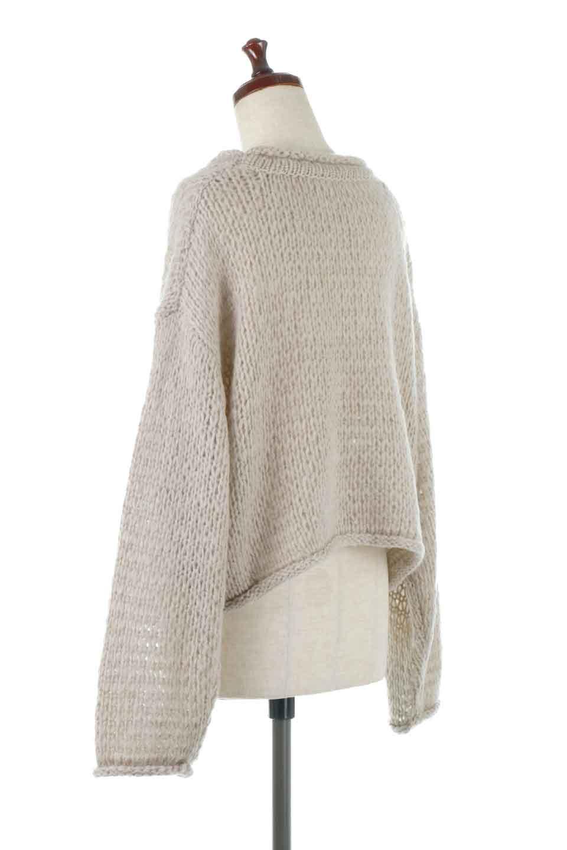 LowGaugeShortKnitTopローゲージ・ショートセーター大人カジュアルに最適な海外ファッションのothers(その他インポートアイテム)のトップスやニット・セーター。手編みのようなざっくりとしたローゲージのゆるさが可愛いニットプルオーバー。編地は透け感もあり、レイヤードスタイルにもぴったりです。/main-3