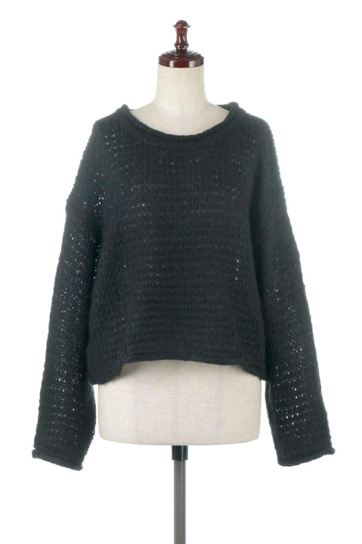 LowGaugeShortKnitTopローゲージ・ショートセーター大人カジュアルに最適な海外ファッションのothers(その他インポートアイテム)のトップスやニット・セーター。手編みのようなざっくりとしたローゲージのゆるさが可愛いニットプルオーバー。編地は透け感もあり、レイヤードスタイルにもぴったりです。/main-5