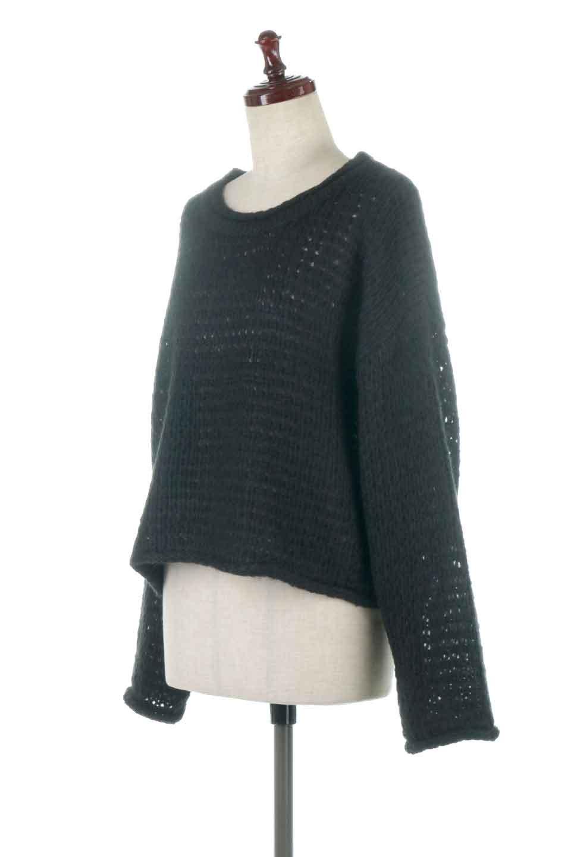 LowGaugeShortKnitTopローゲージ・ショートセーター大人カジュアルに最適な海外ファッションのothers(その他インポートアイテム)のトップスやニット・セーター。手編みのようなざっくりとしたローゲージのゆるさが可愛いニットプルオーバー。編地は透け感もあり、レイヤードスタイルにもぴったりです。/main-6
