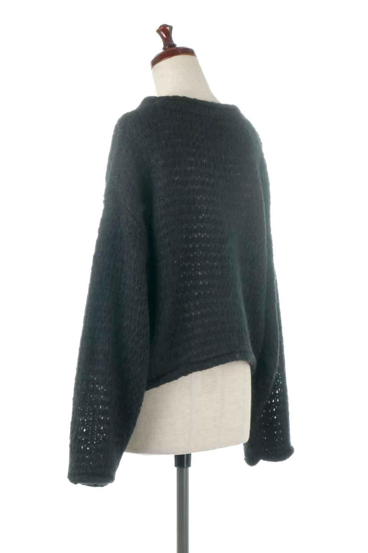 LowGaugeShortKnitTopローゲージ・ショートセーター大人カジュアルに最適な海外ファッションのothers(その他インポートアイテム)のトップスやニット・セーター。手編みのようなざっくりとしたローゲージのゆるさが可愛いニットプルオーバー。編地は透け感もあり、レイヤードスタイルにもぴったりです。/main-8