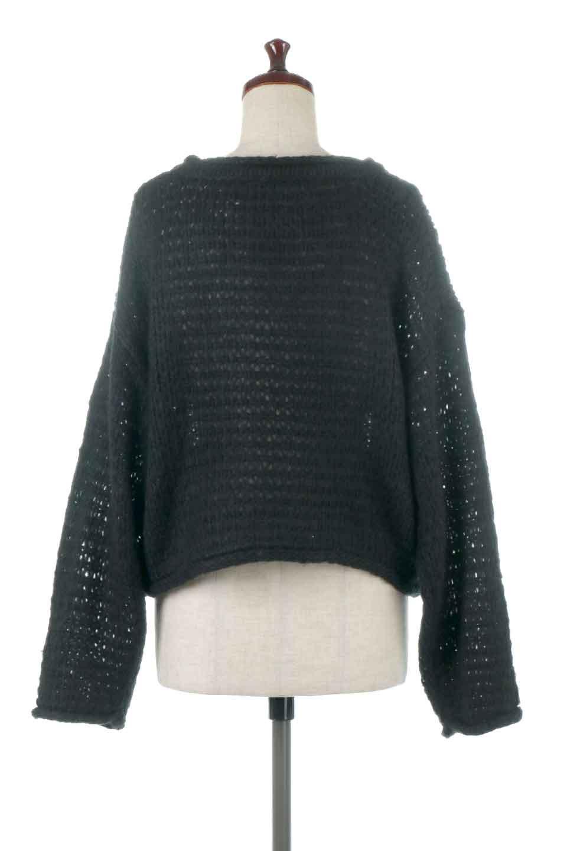 LowGaugeShortKnitTopローゲージ・ショートセーター大人カジュアルに最適な海外ファッションのothers(その他インポートアイテム)のトップスやニット・セーター。手編みのようなざっくりとしたローゲージのゆるさが可愛いニットプルオーバー。編地は透け感もあり、レイヤードスタイルにもぴったりです。/main-9