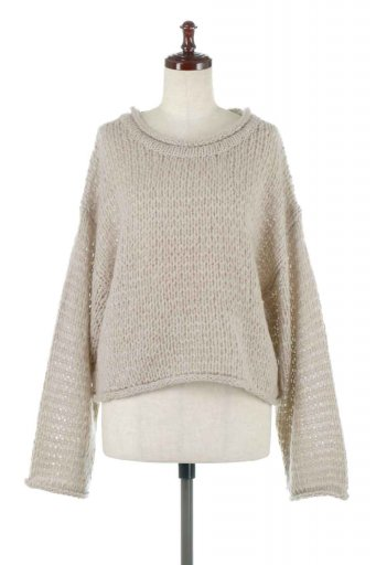 海外ファッションや大人カジュアルに最適なインポートセレクトアイテムのLow Gauge Short Knit Top ローゲージ・ショートセーター