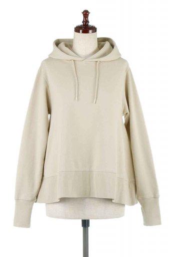 海外ファッションや大人カジュアルに最適なインポートセレクトアイテムのSweat Flare Hooded Parka 裾フレア・スウェットパーカ