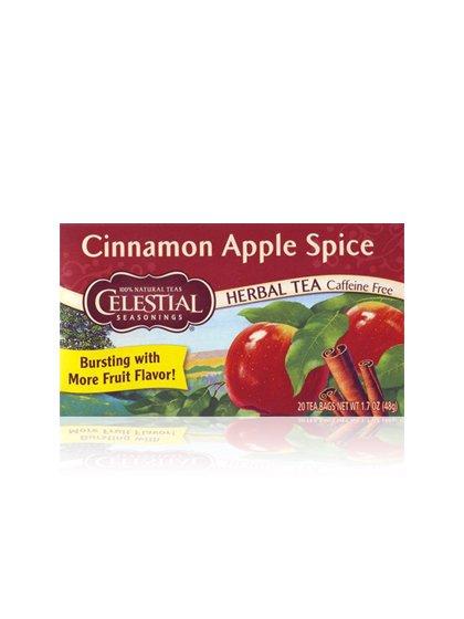 CelestialSeasoningsのCinnamonAppleSpice//シナモンアップルスパイス/celestialseasonings(セレッシャルシーズニングス)のハーブティーや。★ カフェインレス ★シナモンとアップル、まるでアップルパイのようなうれしい組み合わせ。シナモンは体を温め消化を助けます。