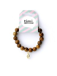 timiのPeace Wood Stretch Bracelet