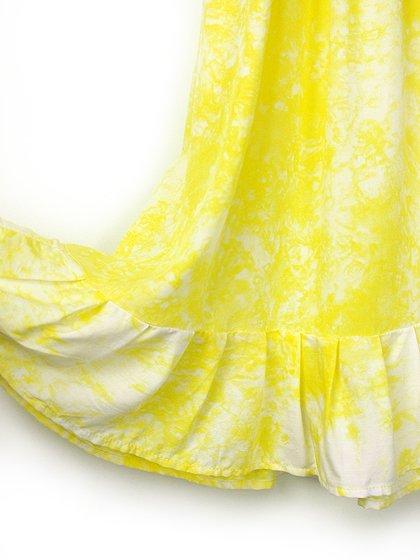 roomIVYのLotusKids(Yellow)/ビーチでのリゾートファッションブランド、roomIVY(ルームアイビー)のワンピースや。人気のマキシワンピースLotusのキッズバージョンです。大人用には無い調節可能な肩ヒモが追加されており、身長が伸びても対応できます。/main-6