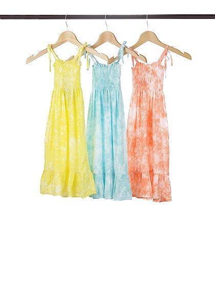 roomIVYのLotusKids(Yellow)/ビーチでのリゾートファッションブランド、roomIVY(ルームアイビー)のワンピースや。人気のマキシワンピースLotusのキッズバージョンです。大人用には無い調節可能な肩ヒモが追加されており、身長が伸びても対応できます。/main-9