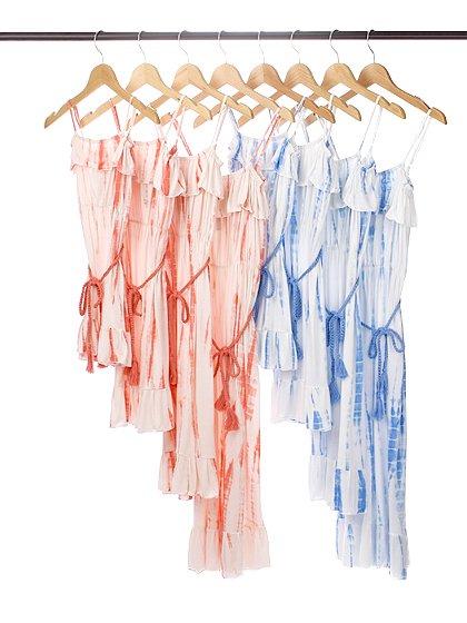 roomIVYのTeresaKids(Ice)/ビーチでのリゾートファッションブランド、roomIVY(ルームアイビー)のワンピースや。大人系リゾートマキシとして人気のTeresaのキッズバージョンです。行動派のチビッ子達も安心の調節可能な肩ひもが付いています。/main-9
