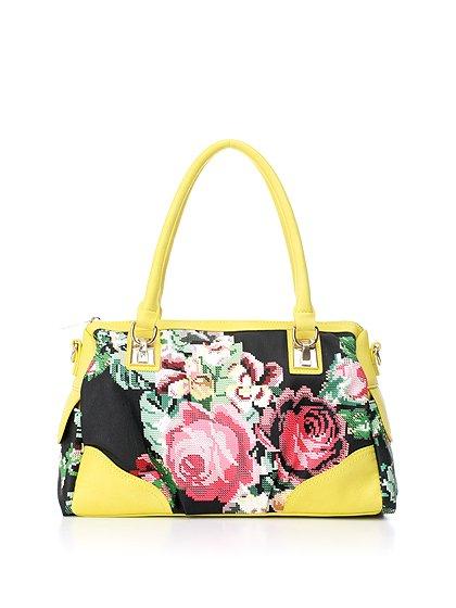 meliebiancoのSadie(Yellow)/海外ファッション好きにオススメのインポートバッグとかばん、MelieBianco(メリービアンコ)のバッグやハンドバッグ。鮮やかな花柄のグラフィックが綺麗なハンドバッグ。シンプルなコーディネートに合わせるだけで、グッと華やかな印象にしてくれます。