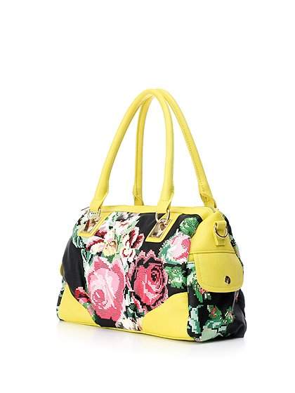 meliebiancoのSadie(Yellow)/海外ファッション好きにオススメのインポートバッグとかばん、MelieBianco(メリービアンコ)のバッグやハンドバッグ。鮮やかな花柄のグラフィックが綺麗なハンドバッグ。シンプルなコーディネートに合わせるだけで、グッと華やかな印象にしてくれます。/main-1