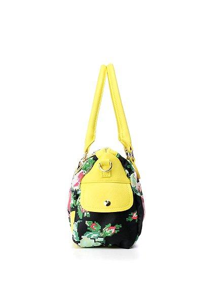 meliebiancoのSadie(Yellow)/海外ファッション好きにオススメのインポートバッグとかばん、MelieBianco(メリービアンコ)のバッグやハンドバッグ。鮮やかな花柄のグラフィックが綺麗なハンドバッグ。シンプルなコーディネートに合わせるだけで、グッと華やかな印象にしてくれます。/main-2