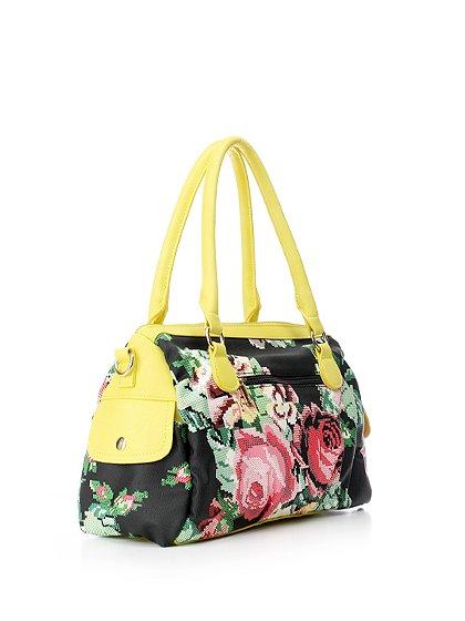 meliebiancoのSadie(Yellow)/海外ファッション好きにオススメのインポートバッグとかばん、MelieBianco(メリービアンコ)のバッグやハンドバッグ。鮮やかな花柄のグラフィックが綺麗なハンドバッグ。シンプルなコーディネートに合わせるだけで、グッと華やかな印象にしてくれます。/main-3
