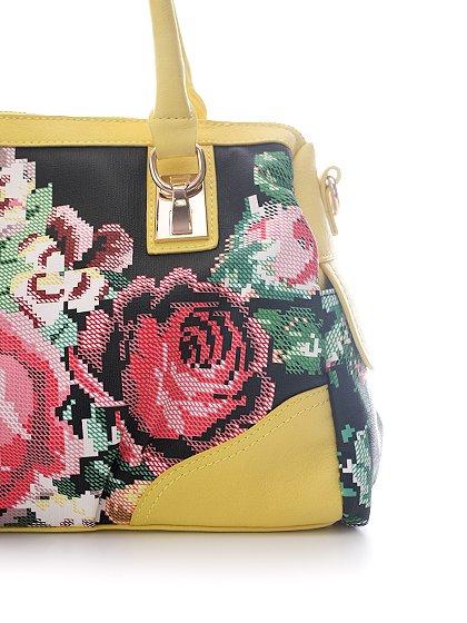 meliebiancoのSadie(Yellow)/海外ファッション好きにオススメのインポートバッグとかばん、MelieBianco(メリービアンコ)のバッグやハンドバッグ。鮮やかな花柄のグラフィックが綺麗なハンドバッグ。シンプルなコーディネートに合わせるだけで、グッと華やかな印象にしてくれます。/main-7