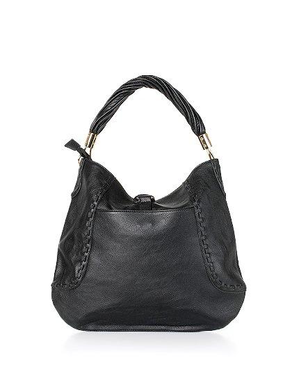 meliebiancoのMargarita(Black)/海外ファッション好きにオススメのインポートバッグとかばん、MelieBianco(メリービアンコ)のバッグやハンドバッグ。ややスリムなデザインがスタイリッシュなショルダーバッグ。ねじねじの持ち手や、揺れるタッセルがとてもかわいい仕上がりです。/main-4