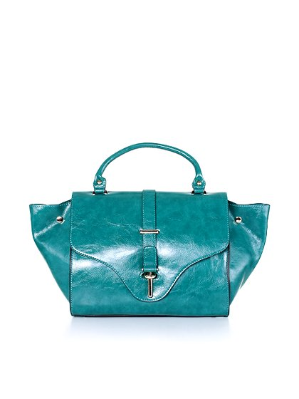 meliebiancoのJody(Teal)/海外ファッション好きにオススメのインポートバッグとかばん、MelieBianco(メリービアンコ)のバッグやハンドバッグ。クラシカルなデザインがとても可愛いハンドバッグ。堅めで光沢のある素材を使用し、アンティーク風に仕上げてあります。