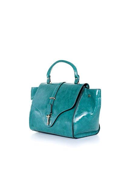 meliebiancoのJody(Teal)/海外ファッション好きにオススメのインポートバッグとかばん、MelieBianco(メリービアンコ)のバッグやハンドバッグ。クラシカルなデザインがとても可愛いハンドバッグ。堅めで光沢のある素材を使用し、アンティーク風に仕上げてあります。/main-1