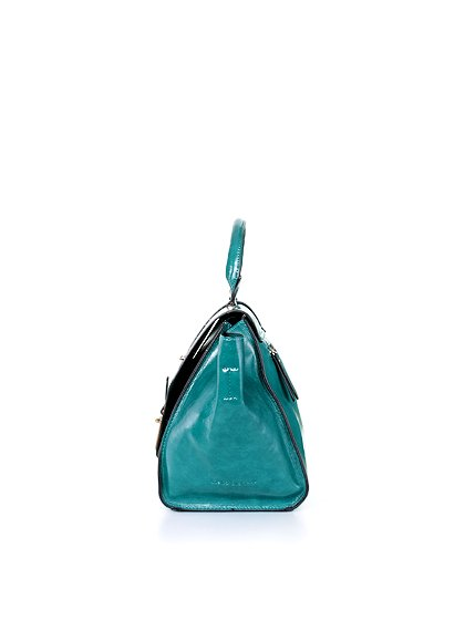 meliebiancoのJody(Teal)/海外ファッション好きにオススメのインポートバッグとかばん、MelieBianco(メリービアンコ)のバッグやハンドバッグ。クラシカルなデザインがとても可愛いハンドバッグ。堅めで光沢のある素材を使用し、アンティーク風に仕上げてあります。/main-2