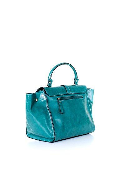 meliebiancoのJody(Teal)/海外ファッション好きにオススメのインポートバッグとかばん、MelieBianco(メリービアンコ)のバッグやハンドバッグ。クラシカルなデザインがとても可愛いハンドバッグ。堅めで光沢のある素材を使用し、アンティーク風に仕上げてあります。/main-3