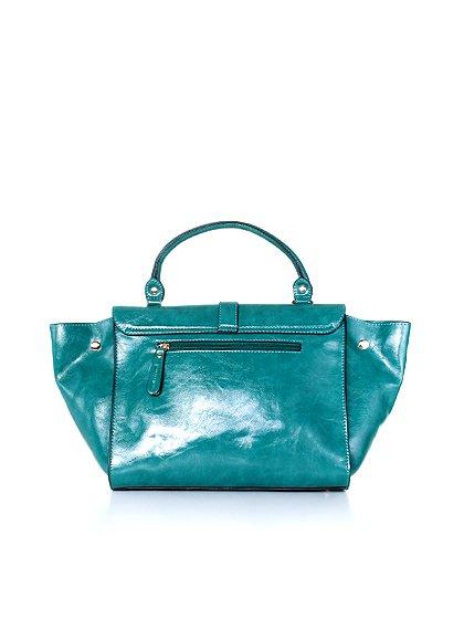 meliebiancoのJody(Teal)/海外ファッション好きにオススメのインポートバッグとかばん、MelieBianco(メリービアンコ)のバッグやハンドバッグ。クラシカルなデザインがとても可愛いハンドバッグ。堅めで光沢のある素材を使用し、アンティーク風に仕上げてあります。/main-4